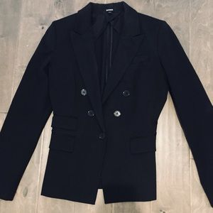Black structured blazer